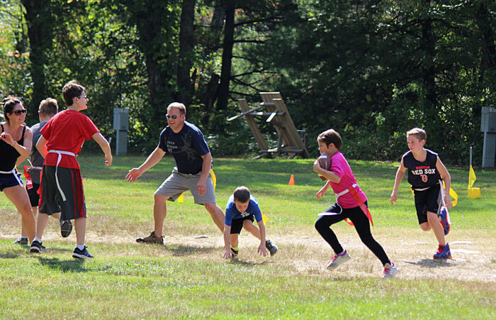 Flag Football Game at Partridge Hollow Camping Area