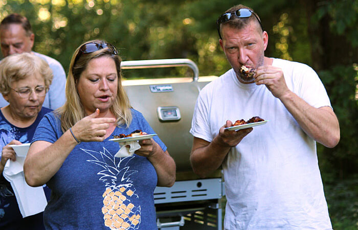 Good Eating at Partridge Hollow Camping Area