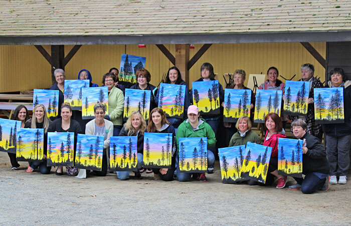 Paint Night at Partridge Hollow Camping Area